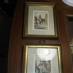 VINTAGE ETCHINGS SIGNED BY ARTIST OF RUTHENBERG